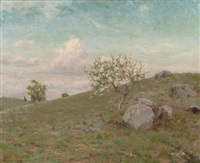 hillside landscape by charles foster