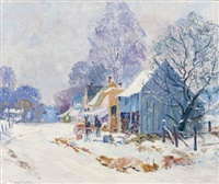 brown county homestead in winter by edward k. williams