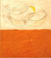 curved forms – white and brown (mycenae) by barbara hepworth