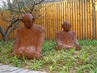 karma - sitting figures by bae hyung kyung