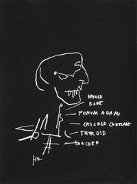 anatomy series: thyroid by jean-michel basquiat