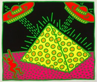 untitled 1-5 (fertility series by keith haring