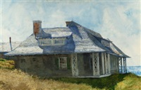 partridge house, monhegan island, maine by jamie wyeth