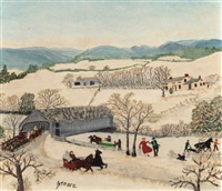 february by grandma moses