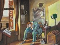 merde (actor in his dressing room) by ernie barnes