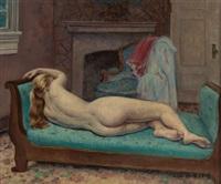 reclining nude by leon kroll
