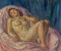 nude, rose and lavender by john french sloan