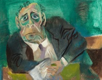 the official (the senator) by william gropper