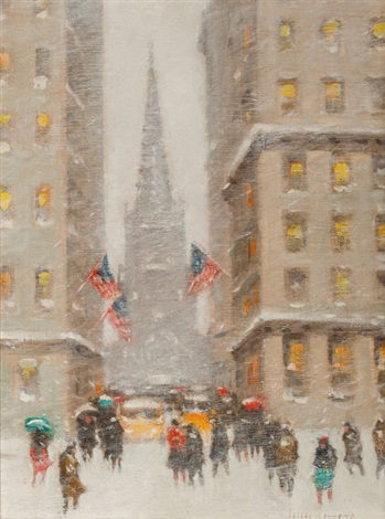 old trinity at wall street new york by guy carleton wiggins