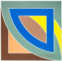 river of ponds i (from the newfoundland series) by frank stella