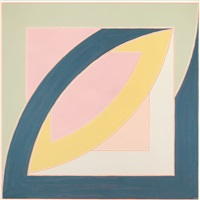 river of ponds ii (from newfoundland series: working proof) by frank stella