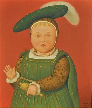 after holbein by fernando botero