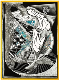 jonah historically regarded (from the moby dick engravings series) by frank stella