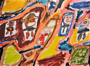 site avec 4 personnages by jean dubuffet