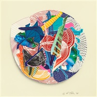 jundapur and esapia (pair) (from the imaginary places ii and iii series); 1998 by frank stella