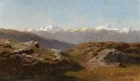 snow-capped peaks by hermann herzog