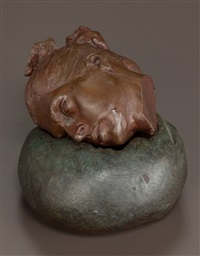 fragment head (gabrielle) (two-piece sculpture) by robert graham