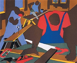 carpenters by jacob lawrence