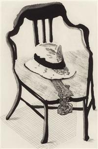 hat on a chair (from the geldzahler portfolio) by david hockney