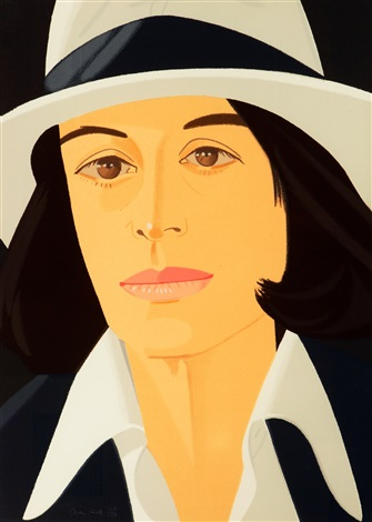 ada in white hat from alex and ada portfolio by alex katz