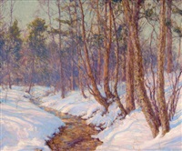 upland stream, mohawk valley by walter launt palmer