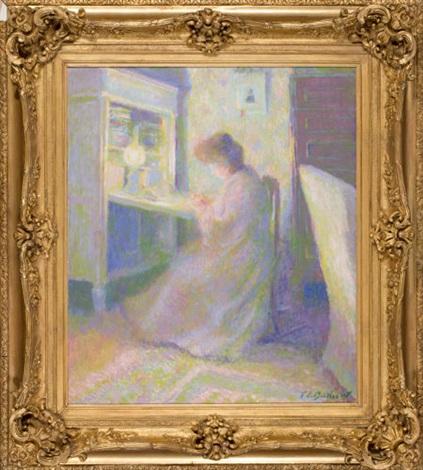 femme de lartiste by theodore earl butler