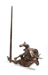 medium goat on stake by jack zajac