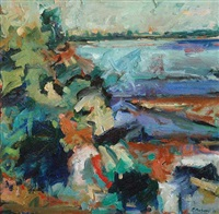 river and ocean study by pat mahony