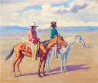 indians on horseback by henry balink
