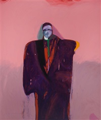 american portrait #46 by fritz scholder