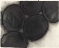 black eggs by donald sultan