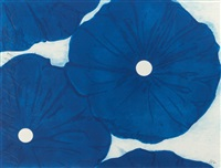 four blue flowers may 19, 1999 by donald sultan