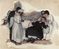 eyes of love: fainting woman by edmund f. ward