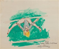 the gymnast by leroy neiman
