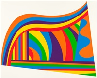 arcs and bands in color by sol lewitt