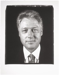 untitled (president clinton) by chuck close