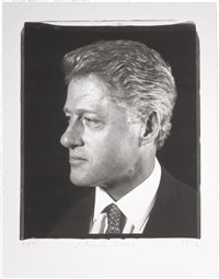 untitled (president clinton profile) by chuck close