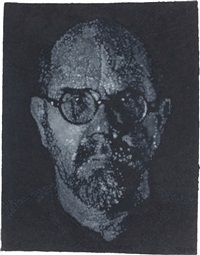 self-portrait (pulp/pochoir) by chuck close