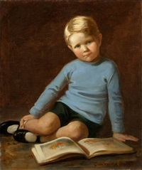 portrait of a boy in blue (william c. hamilton) by jessie willcox smith