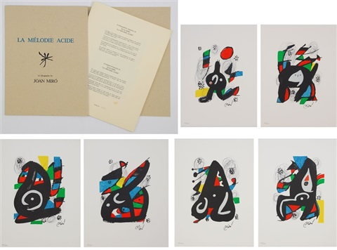 la mélodie acide set of 14 works by joan miró