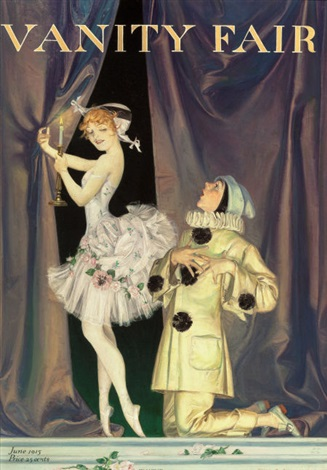 Pierrot And Columbine For Vanity Fair Magazine Cover By