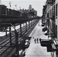 third avenue el, new york city by esther bubley