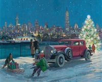 new york skyline pierce-arrow, great moments in early american motoring by harry anderson