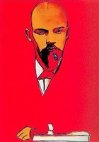 andy warhol 'red lenin'