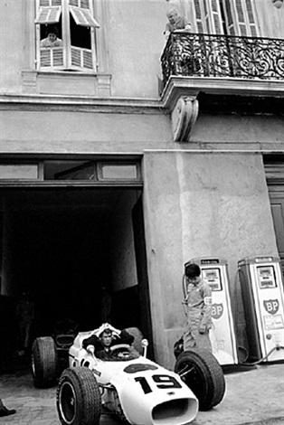 ron bucknum, honda, waits for practice to start, monaco by jesse alexander
