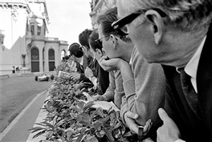spectators on hotel de paris terrace, monaco by jesse alexander