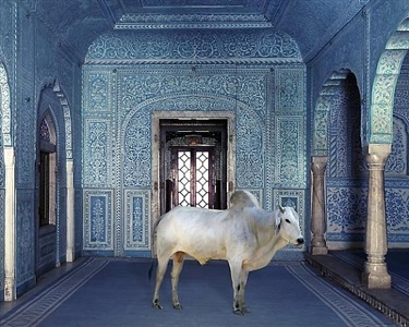 the gatekeeper, zanana, samode palace by karen knorr