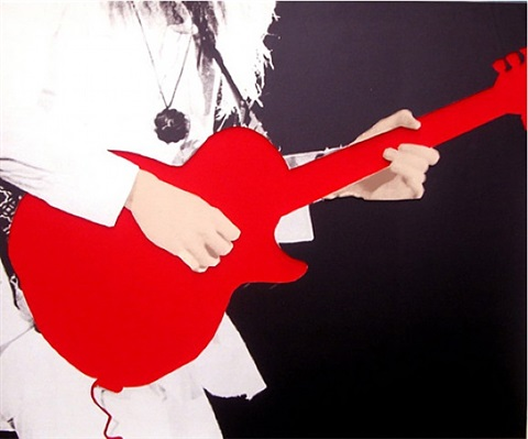 person with guitar (red) by john baldessari