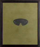 no title (green mask) by robert therrien