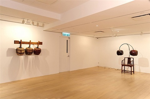 musical instrument and chair of concentration by chen zhen